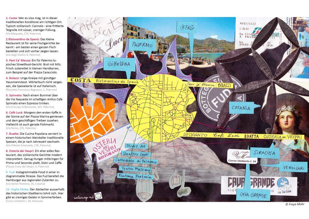 Stadtplan Sizilien